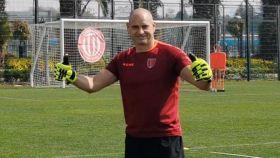 Paco Ruiz, durante un entrenamiento con su equipo
