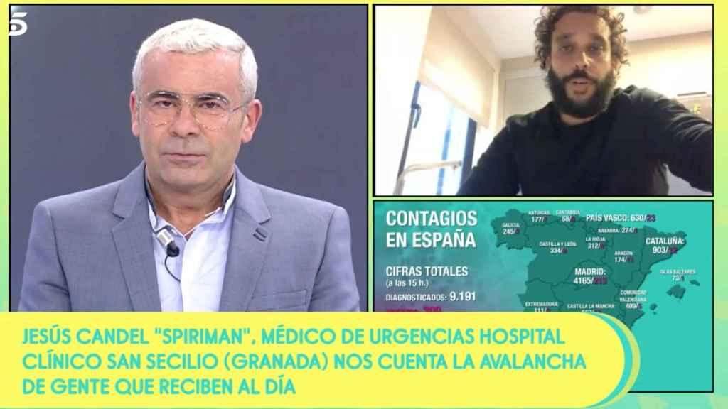 Jorge Javier Vázquez entrevista a Spiriman.
