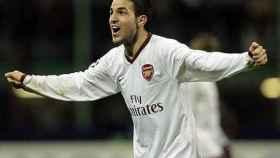 Cesc Fábregas, durante un partido con el Arsenal