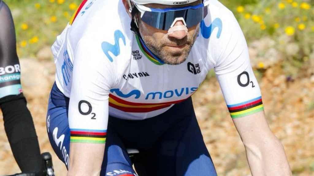 Alejandro Valverde, en una carrera durante esta temporada
