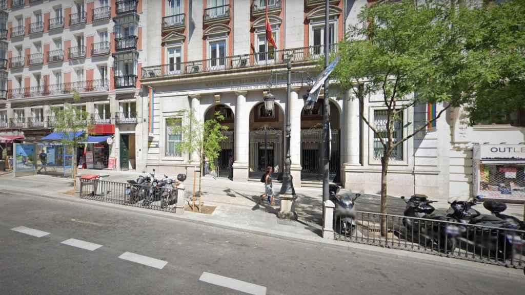 Fachada de la sede del Ministerio de Igualdad, en la madrileña calle de Alcalá, 37.