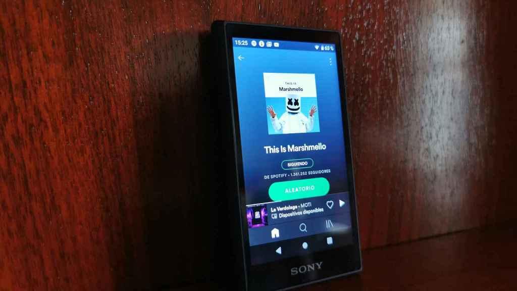 Walkman NW-A105 de Sony.
