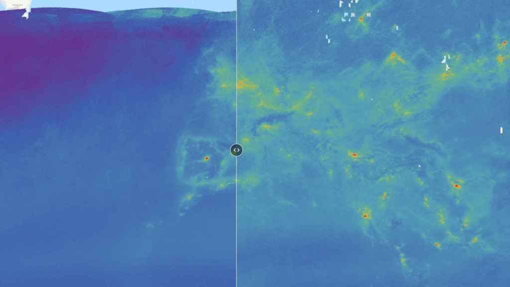 Mapa interactivo con datos de contaminación globales