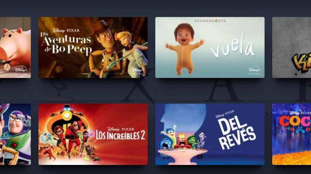 Todas las películas de Disney.