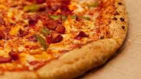 Una pizza tan atractiva como grasienta.