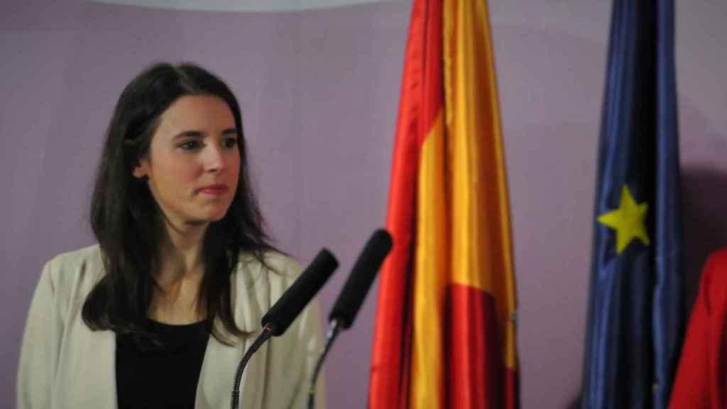 Irene Montgero, el día de la toma de posesión d su equipo en el Ministerio de Igualdad.