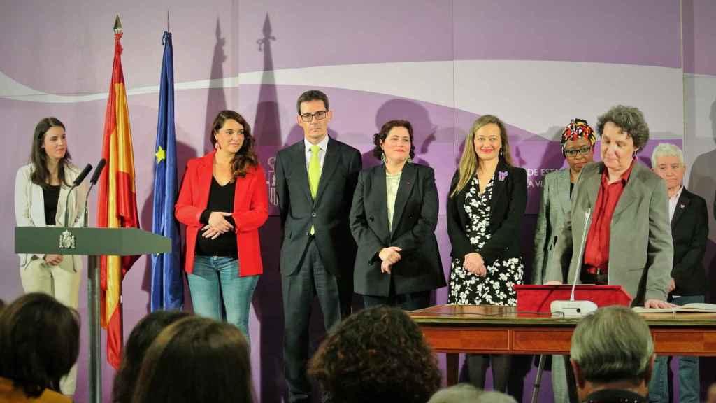 Beatriz Gimeno, directora del Instituto de la Mujer, el día de su toma de posesión en el Ministerio de Igualdad.