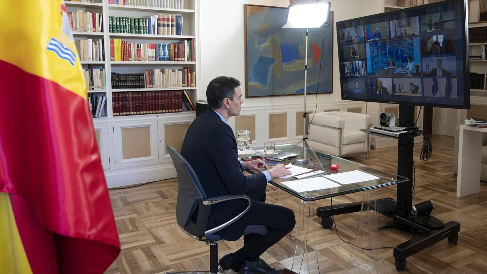 El presidente Pedro Sánchez, durante el Consejo Europeo de este jueves