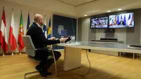 Charles Michel, durante la última videocumbre de líderes europeos
