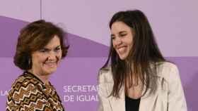 Carmen Calvo e Irene Montero en una foto de archivo.
