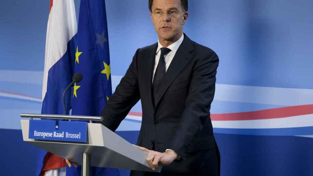 El primer ministro holandés, Mark Rutte, durante un Consejo Europeo