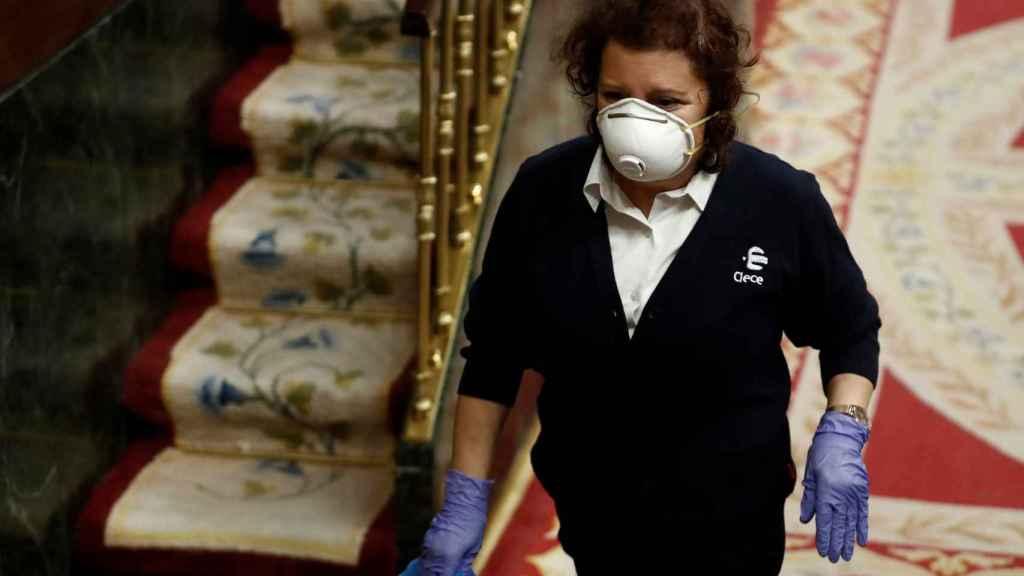 Catalina Guille, empleada de limpieza del Congreso.