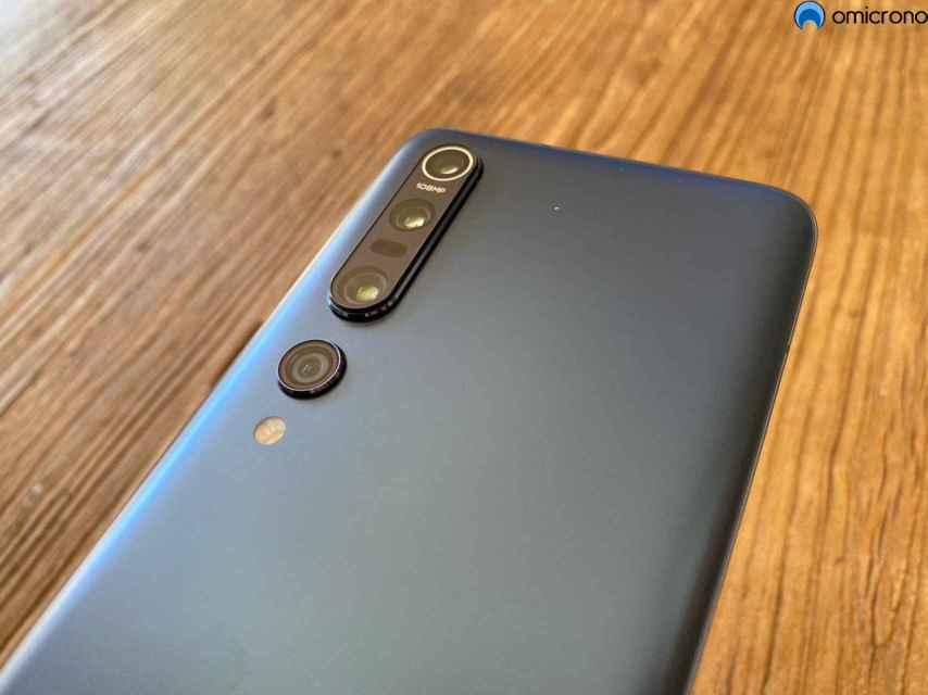 Xiaomi Mi 10 y su cámara cuádruple.