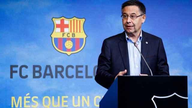 Josep María Bartomeu, en una rueda de prensa del FC Barcelona
