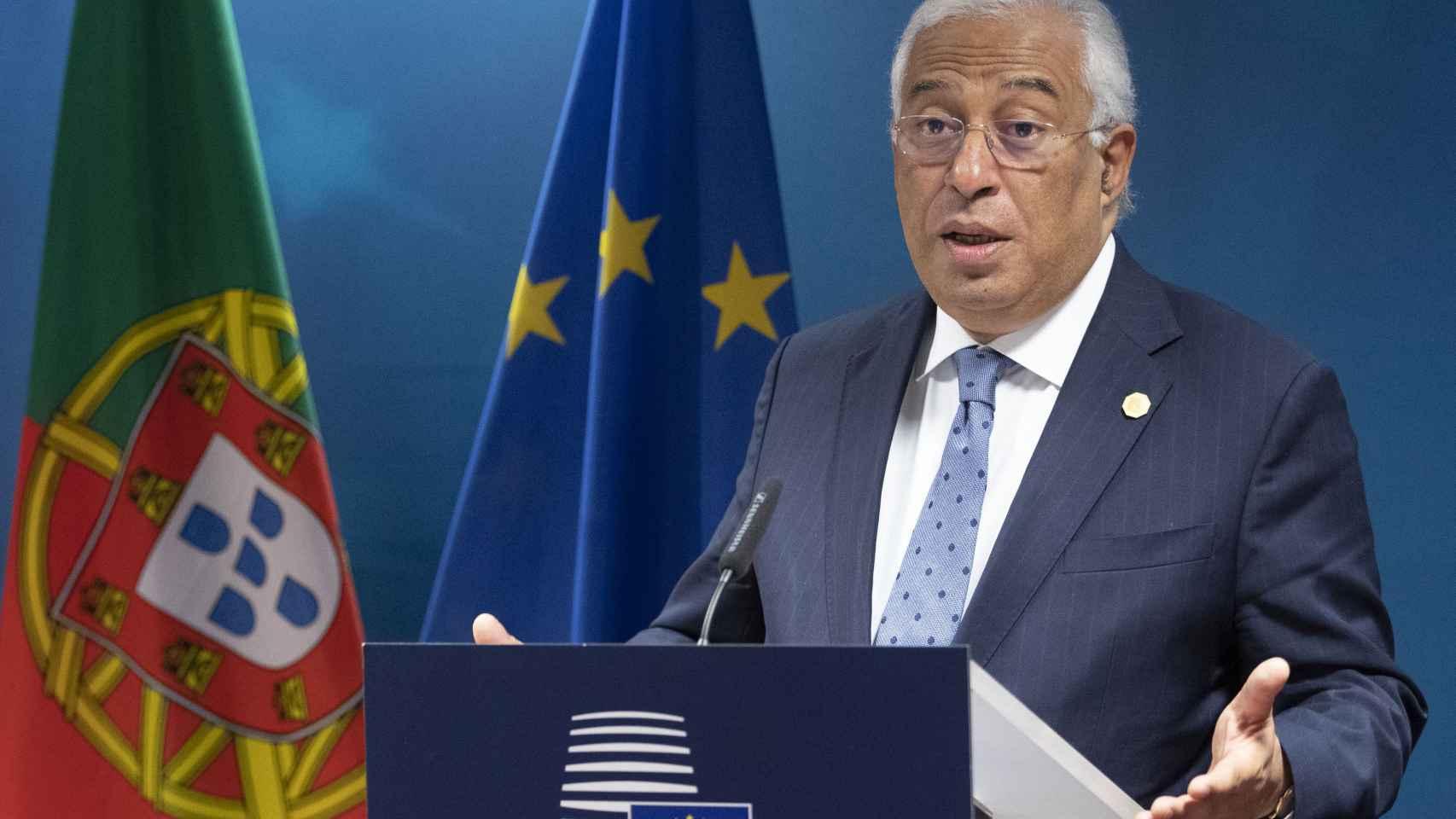El primer ministro portugués, António Costa, durante una cumbre de la UE