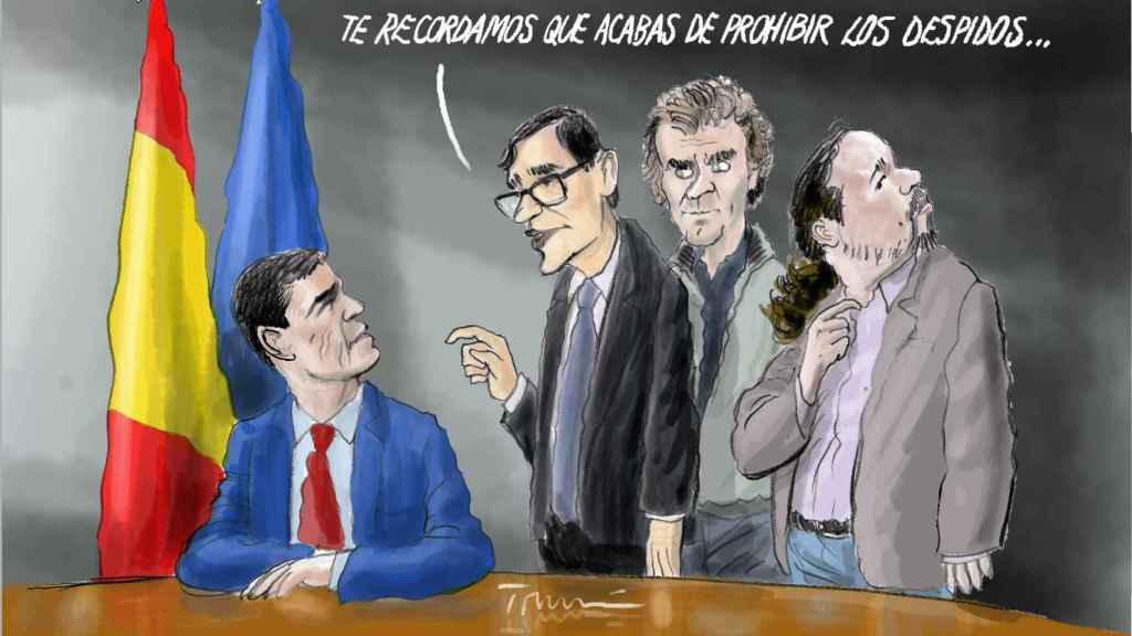 Viñeta de Tomás Serrano.