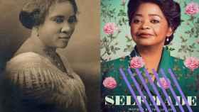 Madam CJ Walker y el cartel de la serie.
