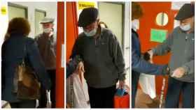 El anciano de 86 años saliendo del Hospital La Paz, tras vencer al coronavirus.