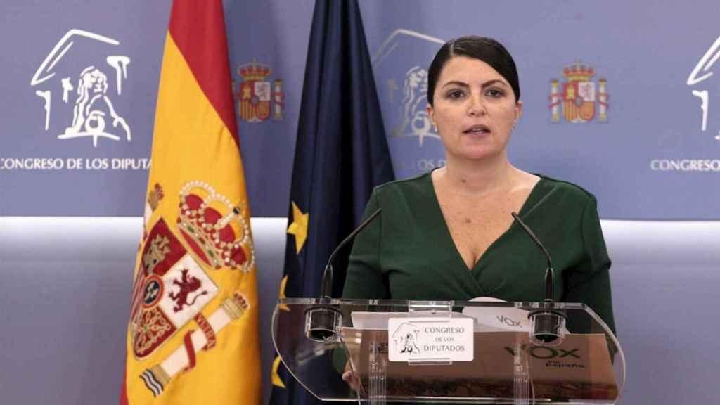 La secretaria general de Vox en el Congreso, Macarena Olona.