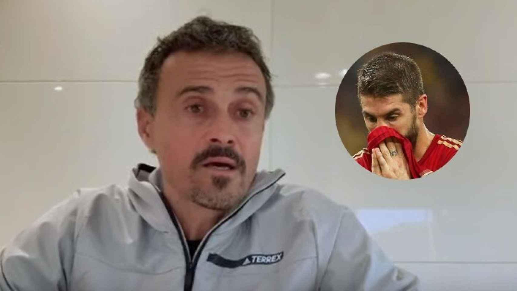 Luis Enrique, junto a Sergio Ramos