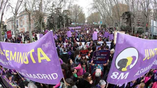 Manifestación del 8-M en Madrid.