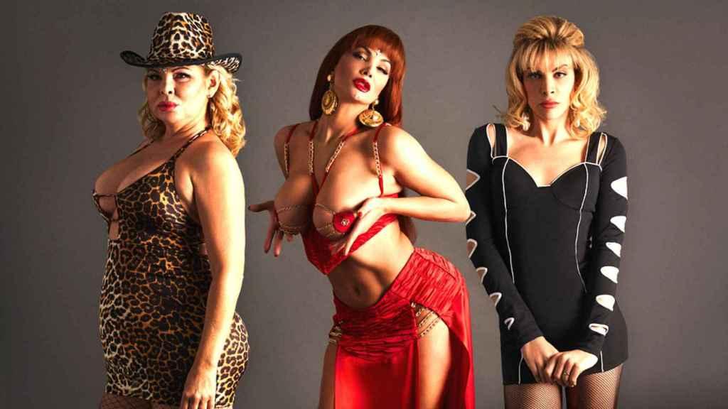 Las tres actrices que dan vida a La Veneno.