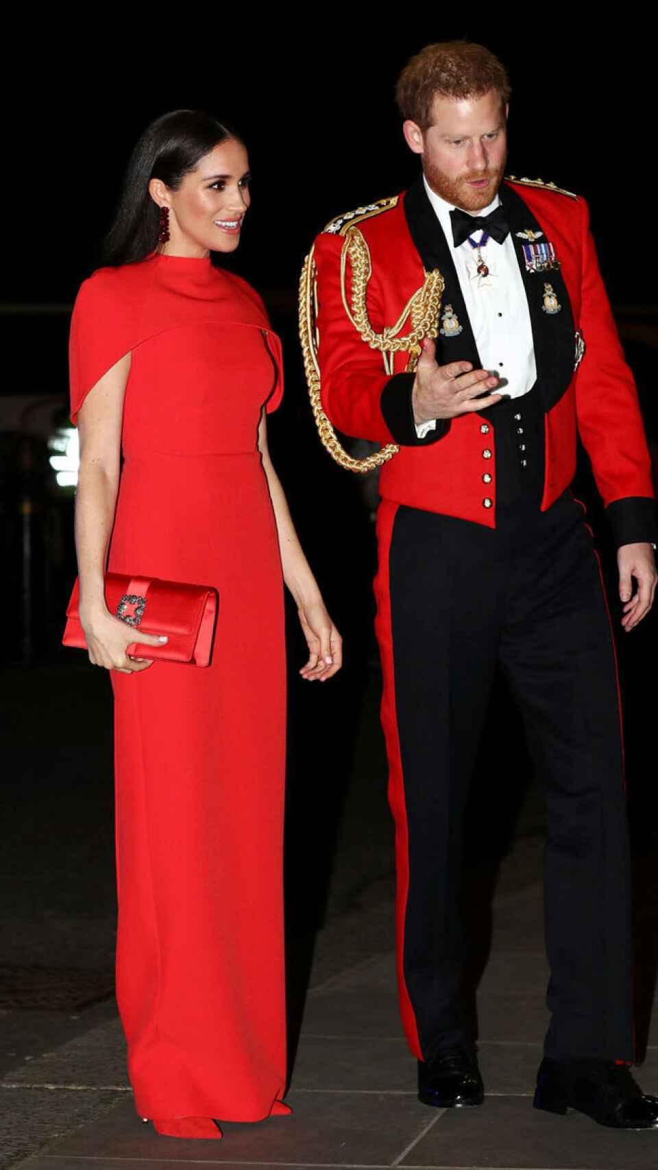 Los duques de Sussex en el Royal Albert Hall de Londres.