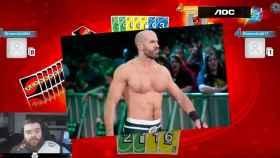 Ibai Llanos juega al 'Uno' con Cesaro, de la WWE