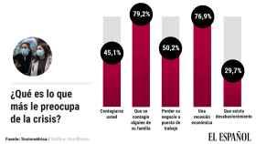 Mayores preocupaciones de los españoles durante la crisis.