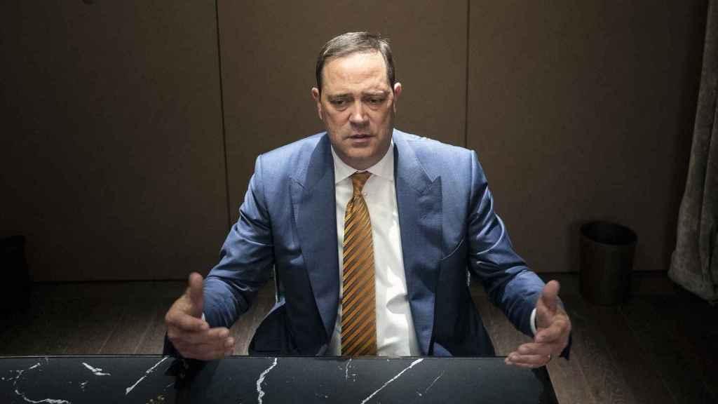 Chuck Robbins, CEO de Cisco, durante una  entrevista pasada con D+I. Foto: Vicent Bosch