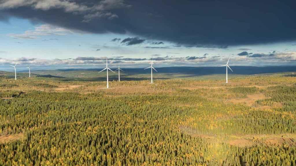 Parque eólico de Siemens Gamesa en Suecia.