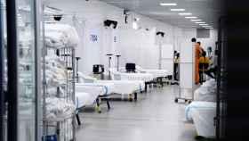 Extensión del Hospital Universitario Vall d'Hebron para atender pacientes con coronavirus.
