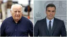 El dueño de Inditex, Amancio Ortega y el presidente del Gobierno, Pedro Sánchez.
