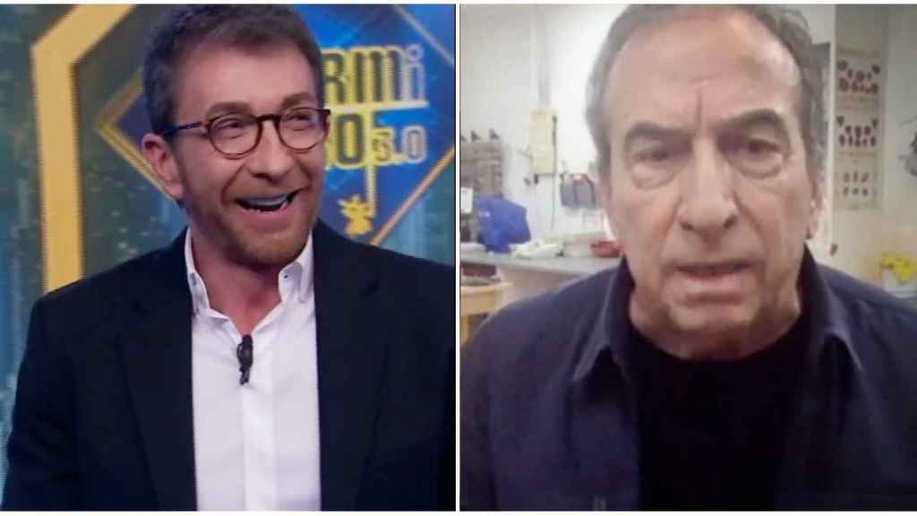 José Luis Perales junto a Pablo Motos, en 'El Hormiguero'.