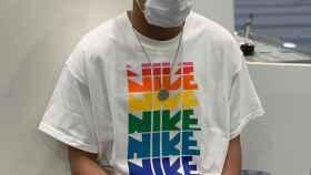 Kylian Mbappé, con una mascarilla protegiéndose del coronavirus