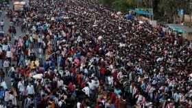 Decenas de personas han vuelto a sus lugares de origen para pasar la cuarentena.