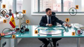 Estos son los principales elementos (y su significado) de la foto de Abascal en su despacho.