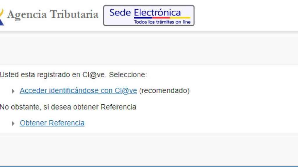 Paso 3: Acceder en Cl@ve o Número de Referencia