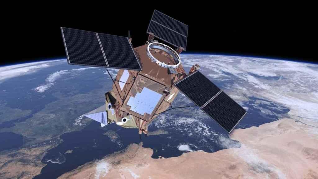 Una imagen del satélite Sentinel-5P operando sobre Europa.