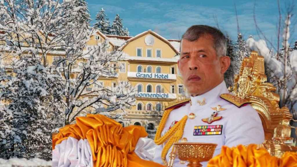 El rey de Tailandia en un montaje de Jaleos.