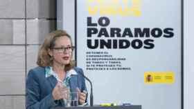 Nadia Calviño, durante la rueda de prensa del Consejo de Ministros.