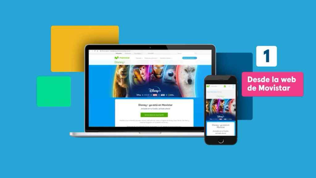 Podemos activar Disney+ en Movistar desde la web