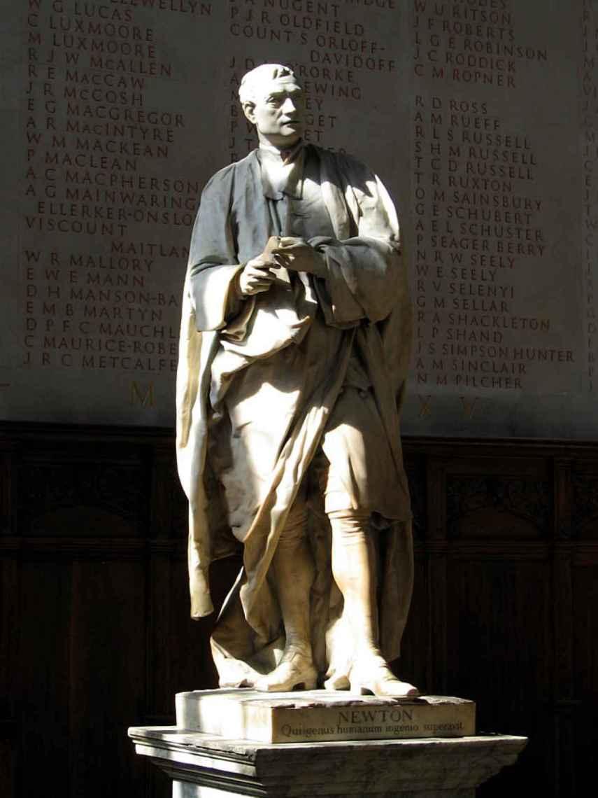 Estatua de Isaac Newton.