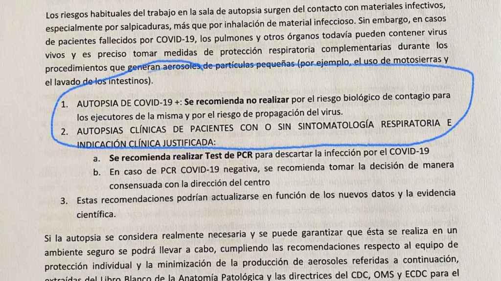 Documento Técnico que recoge el procedimiento para el manejo de cadáveres