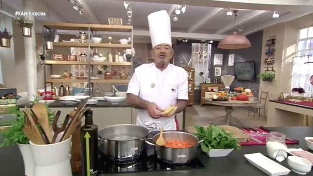 Karlos Arguiñano, durante su programa en Antena 3.