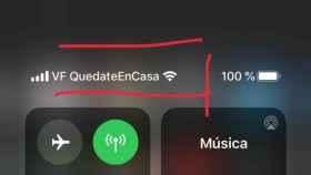 Mensaje de Vodafone.