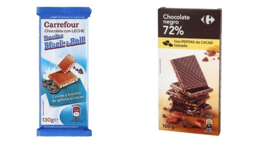 Chocolates de marca blanca de Carrefour.