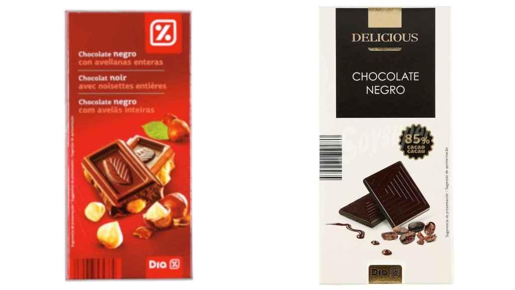 Chocolates de marca blanca Dia.