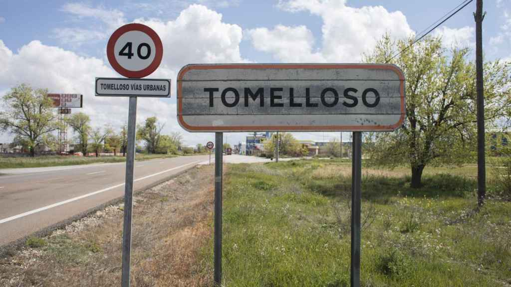 Entrada a la localidad manchega de Tomelloso.