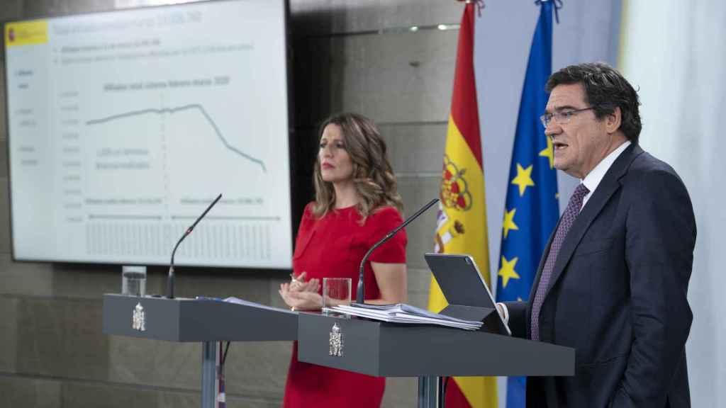 Yolanda Díaz, ministra de Trabajo, y José Luis Escrivá, titular de Seguridad Social.